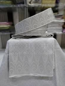Set sampin bengkong tanjak pengantin Putih silver