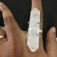 Faux Crystal ring
