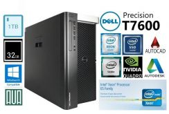 Dell Precision T7600 Xeon E5 Quadro 32GB SSD 3D PC