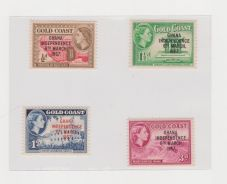 Gold Coast (Ghana) Old stamps lot# 1 - MLH