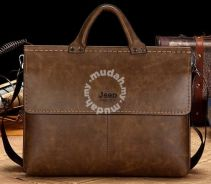 Jeep Horizontal Briefcase Business Bag (Coffee)