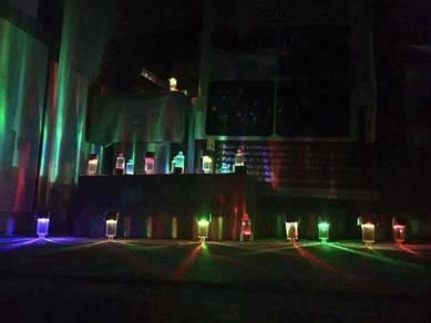 4 pcs colourful led light solar