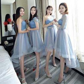 Blue wedding bridal prom bridesmaid dress RBBD0042