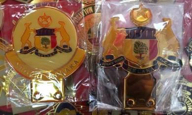 Melaka Emblem Badge Gold Plated for Car Num Plate