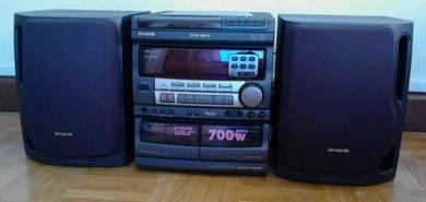 Aiwa vcd radio cassette player hi fi component