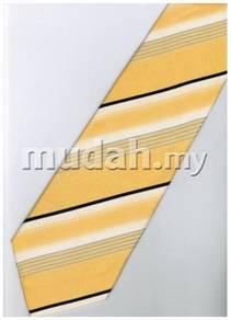 EY3 Yellow Black White Silver Striped Neck Tie