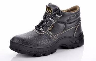 Black Nitrite Rubber Sole Midcut Safety Shoes