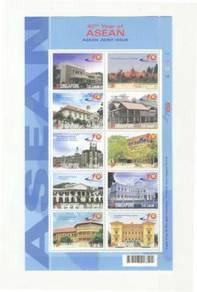Mint Stamp Sheet Asean Joint Issue Singapore 2007