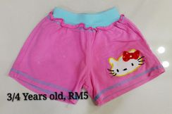 Preloved kitty pants (Pink)