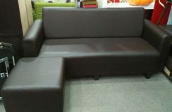 L-shape pvc sofa 3 seater #4027