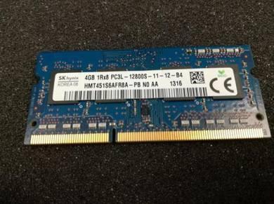 DDR3 4GB 1Rx8 PC3L-12800S RAM