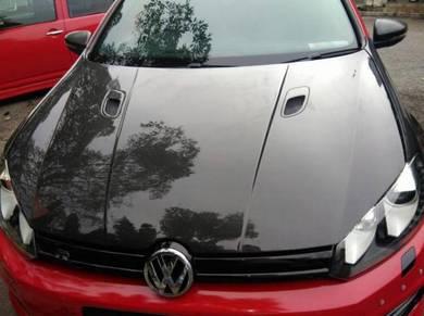 Volkswagen golf mk6 carbon hood bonnet cf bodykit