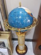 Rotating Globe On Standing Marble Lamp