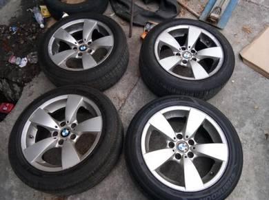 BMW original sport rim 17 inch e60 tayar 225/50/17