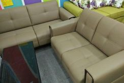 Leather sofa 2+3 offer / free delivery *4016