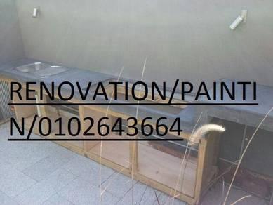 Polish marble terrazzo / paint parquet varnish