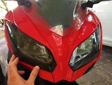 Ninja 250 250R R25 head light cover protection