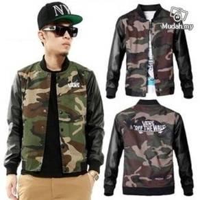 MVE135 Camouflage Varsity Baseball Coats Jacket