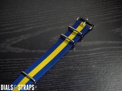 Navy Yellow Navy NATO Strap
