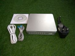 Hypptv Modem router with adapter + RJ45 cable + CD