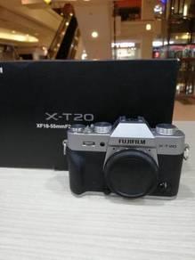 Fujifilm x-t20 body - silver (97% new)