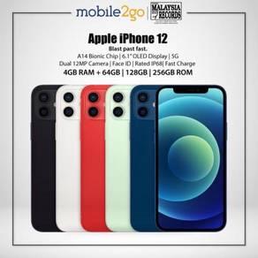 Apple iPhone 12 [128GB/Apple A14 Bionic/5G] MY Set