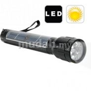 Solar Powered LED Flashlight Lampu Suluh- New