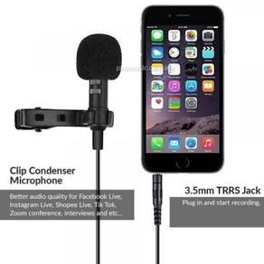 Mikrofon klip untuk smartphone