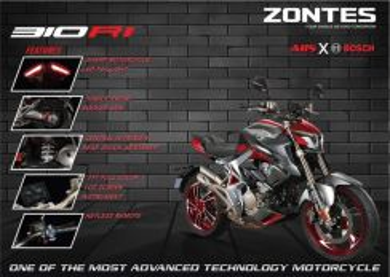 3yrs Warranty - Zontes Zt310R keyless zt310r1