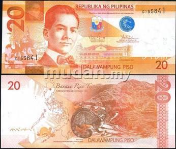Philippines 20 peso 2010 2011 p new unc