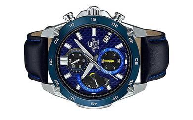 Casio Men Chronograph Leather Watch EFR-557BL-2AVU