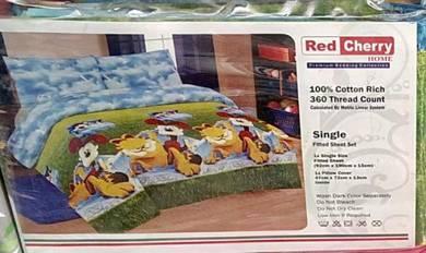Cartoon bed sheet Single set for children