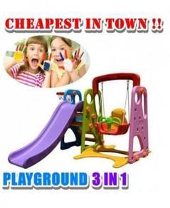 CR-6.44T 3 in 1 kids playground set 655