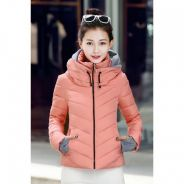A02a Fashion Double Layer Collar Winter Jacket