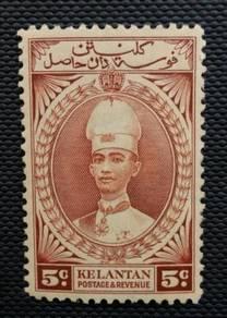 Malaya Kelantan 1937 SG43 5c MLH BL249