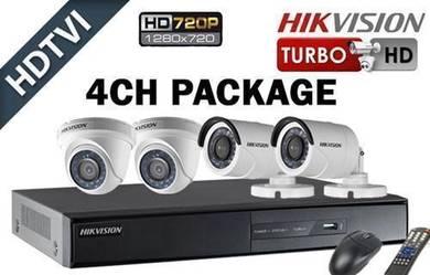 Hikvision Full HD 4ch cctv system installation