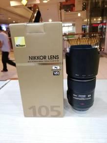 Nikon af-s 105mm f2.8g ed vr n micro lens-97% new