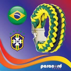 Limited Brazil Paracord Bracelet World Cup 2018