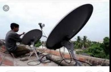 Khidmat pindah-pasang,seting piring dan antena mtv