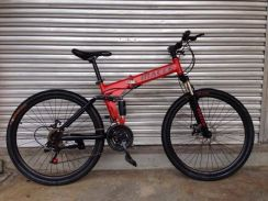 MACCE folding mountain bike bicycle 26in merah
