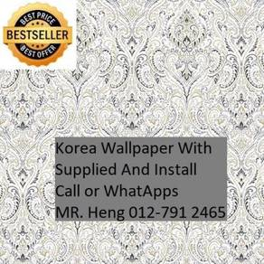 Design Decor Wall paper with Install aslñ098