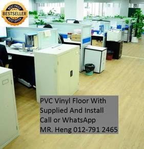 PVC Vinyl Floor In Excellent Install N65TJ