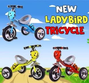 Basikal 3 roda ladybird baru 766