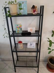 Stylish grey storage shelf unit
