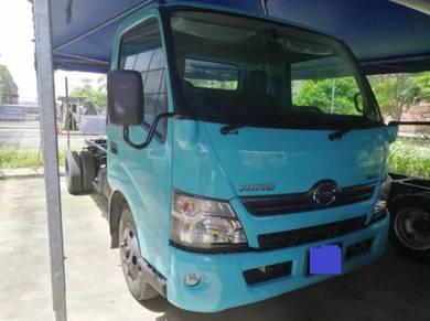 Hino wu720r 4.0turbo engine diesel hijau 17FT