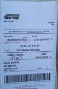Tiket ets, Ets ticket for sale.