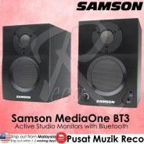 New Samson MediaOne BT3 Powered Monitors PAIR