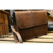 Unisex retro brown clutch bag beg