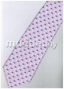 EPK06 Pink White Blue Striped Formal Neck Tie