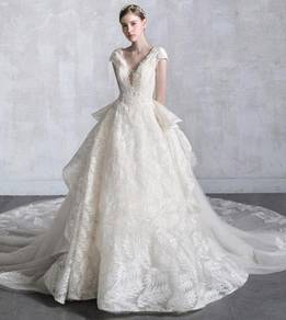 Sequin white wedding bridal dress gown RB0948